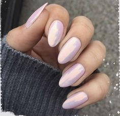 Almond Nails are goals baby! Almost all almond nails are acrylic nails or fake n. - Almond Nails are goals baby! Almost all almond nails are acrylic nails or fake n… - Almond Nails Pink, Pale Pink Nails, Almond Acrylic Nails, Pink Chrome Nails, Almond Shape Nails, Nail Lacquer, Nail Polish, Pink Polish, Crome Nails