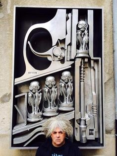 King Buzzo at the H.R. Giger Museum in Switzerland.