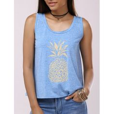 SHARE & Get it FREE | Fashionable Woman's Pineapple Print Black Cross Splice Backless Tank TopFor Fashion Lovers only:80,000+ Items·FREE SHIPPING Join Dresslily: Get YOUR $50 NOW!