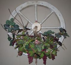 DIY: Rustic Wagon Wheel Winery Decor - So easy to make finemomma.com #rustic #wagonwheels #DIY
