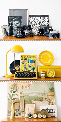 Swedish freelance photographer, HILDA GRAHNAT has a great sense of colors with vintage objects that she's been collecting.