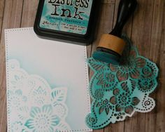 Using Die Cuts to Stencil A Background