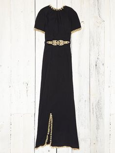 Free People Vintage Black and Gold Dress, $998.00 take me to the bank! (oh, it's closed today, darn)