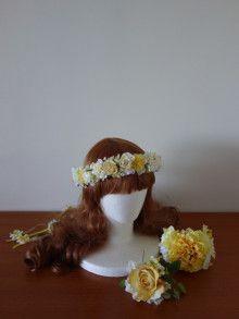 イエロー&ホワイトのパール入りアイテムセット☆ |Ordermade Wedding Flower Item MY FLOWER ♪ まゆこのブログ