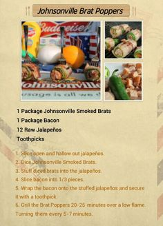 Searingly Simplistic, Yet Savory Way To Wow Your Guests: the Johnsonville Brat Popper