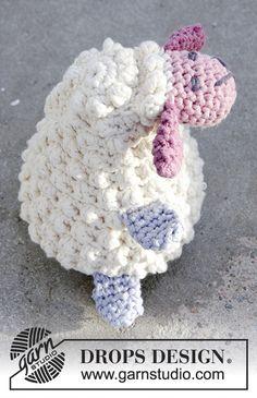 Horgolt bárány húsvétra DROPS Paris fonalból Ingyenesen elérheto minta a DROPS Designtól.