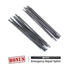 "WEANAS Aluminum Rod Tent Pole Replacement 11'3"" Polesx2. For product & price info go to:  https://all4hiking.com/products/weanas-aluminum-rod-tent-pole-replacement-113-polesx2/"