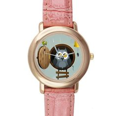 Gifts for girls or ladies Cartoon Cute Owl Design Pink Leather Alloy High-grade Watch >>> Startling review available here  : Travel Gadgets