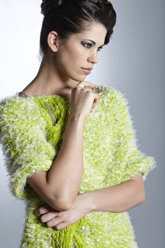 Tsvety Fashion lime color bulky sweater from the F/W 2012 Collection Photography: Szeredy Photography Model: Melissa Littlejohn Hair and make up: Deedy Lazorko