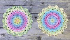 Magic Water Lily Mandala. Free pattern swedish and english.