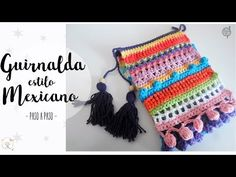 Guirnalda estilo mexicano a crochet | crochet garland tutorial - YouTube