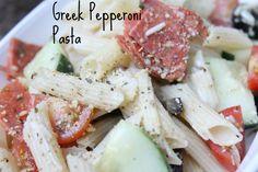 Greek Pepperoni Pasta, a perfect picnic food