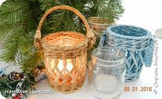 Поделка изделие Новый год Плетение Новогоднее Трубочки бумажные фото 3