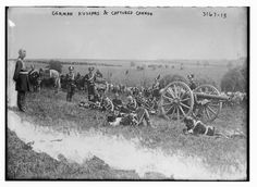 German Hussars with Captured Cannon by  Unknown Artist