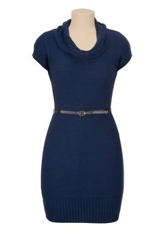 Cowl neck belted sweater dress on Chiq  $44.00 http://www.chiq.com/maurices-com/cowl-neck-belted-sweater-dress