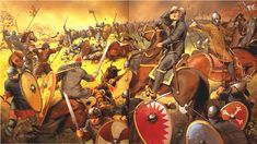Angus McBride illustration of William the Conqueror lifting his helmet so that his soldiers could see that he had not been killed during the Battle of Hastings. British History, Art History, Norman Knight, Knight Art, Early Middle Ages, Anglo Saxon, Dark Ages, Military Art, Ancient Civilizations