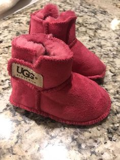 fd0b2e40767 NEW! Ugg Infant Erin Boot Hot Pink Size Large 18-24-months