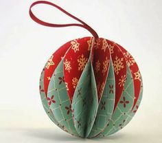 Recycled Christmas Card Baubles