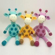 Giles the Giraffe amigurumi pattern by Janine Holmes at Moji-Moji Design