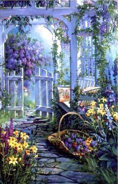 Lilac Garden ~ Sandy Bergeron.