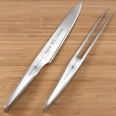 Type 301 carving knife and carving fork set designed by F.A. Porsche