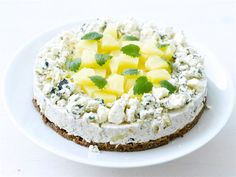 (I would like it without the pineapple and crumbled blue cheese on top) Sandwich Cake, Sandwiches, Blue Cheese, Baking Recipes, Camembert Cheese, Mashed Potatoes, Pineapple, Cheesecake, Ethnic Recipes