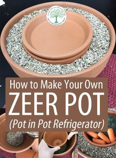 Step by step (with photos) how to make a pot in pot refrigerator (a. a zeer pot) to keep your veggies fresh without the use of electricity. The materials are dirt-cheap, and it's so easy to make! Emergency Preparedness Kit, Emergency Preparation, Survival Prepping, Survival Skills, Camping Survival, Urban Survival, Dirt Cheap, Living Off The Land, Survival Items
