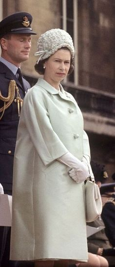 Queen Elizabeth presents new colours to the RAF at Buckingham Palace. Young Queen Elizabeth, Elizabeth Philip, Princess Elizabeth, Princess Margaret, Hm The Queen, Royal Queen, Her Majesty The Queen, Save The Queen, Windsor