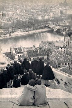 Paris, on top of the Notre Dame. Happier times. 1955 I believe.