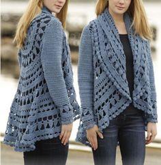 crochet lace jacket free pattern