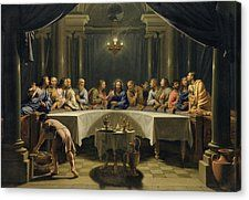 The Last Supper Canvas Print by Jean Baptiste de Champaigne