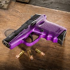 Don't care for guns, but if you're going to have one. it may as well be Purple! Purple Gun, Purple Love, All Things Purple, Shades Of Purple, Deep Purple, Pink Purple, Lilac, Purple Stuff, My Favorite Color