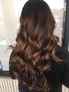 Rich locks! Brown Hair Balayage, Hair Highlights, Ombre Hair, Rich Brown Hair, Brown Hair Looks, Brunette Hair, Brunette Ombre, Cinnamon Hair, Hair Color Shades