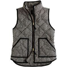 Excursion Quilted Vest In Herringbone (€125) ❤ liked on Polyvore featuring outerwear, vests, jackets, tops, coats, vest waistcoat, quilted vest, quilted puffer vest, puffy vests and herringbone quilted vest
