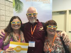 Celebrating #HelloSunny with my cyberfriends Melody Pittman from Wherever I May Roam and Lisa Chavis from The Travel Pharmacist and What Boundaries? at the Fort Lauderdale Convention Center during #TBEX NA 2015.
