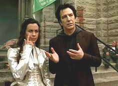 """Alan Rickman and Alanis Morrisette from """"Dogma"""""""