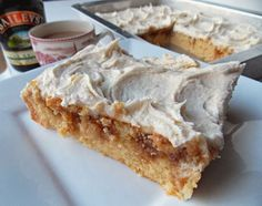 BAILEYS IRISH CREAM POKE CAKE: Cream 1box white cake mix with 1/4c softened butter. Blend in 1/2c oil. Mix in 1pkg vanilla instant pudding mix, 1/2c Baileys, 3/4c milk, 4egg whites, 1.5tsp vanilla. Beat 90sec. Pour into greased ,floured 9X13 pan. Bake 350deg 25-30min. Cool 30min. Poke holes. Pour on glaze (see other pin); let glaze set; frost with whipped cream or Baileys frosting (other pin)