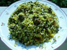 Kalam Polò Shirazi - Riso Basmati con Cavolo Capuccio, polpettine di carne ed erbe aromtiche