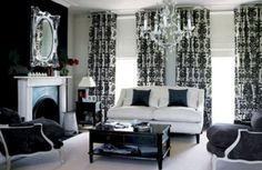 Black And White Living Room Decor With Minimalist Design 19