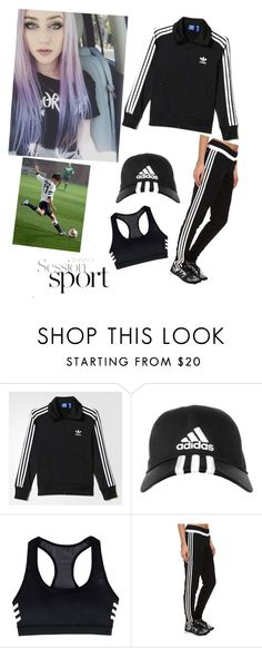 """SOCCER TEAM"" by wyatt-kayla ❤ liked on Polyvore featuring adidas, women's clothing, women, female, woman, misses and juniors"