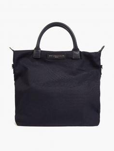 Black Organic Cotton 'O'Hare' Tote Bag