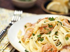 This shrimp fettuccine alfredo recipe, which calls for quick-cooking refrigerated pasta, is a great go-to dish for hectic weekights....
