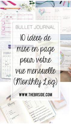 10 idées de page Monthly log pour votre bullet journal