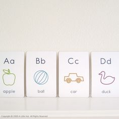 printable alphabet flash cards...make into a picture