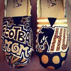 Custom painted Harding University shoes! I won't put mom though haha love these
