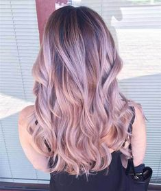Pastel pink ombre balayage hairstyle for dark hair color,trend of 2015 summer(Rose Gold Hair Blonde) Brown Black Hair Color, Hair Color For Black Hair, Brown Hair, Light Purple Hair, Blue Hair, Hair Color Balayage, Balayage Hairstyle, Pink Bayalage, Blonde Balayage