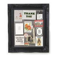 ornate black framed pinboard noticeboard by horsfall & wright | notonthehighstreet.com