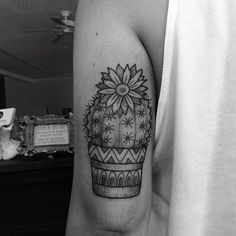 Cactus by @ankalavrivtattoo.