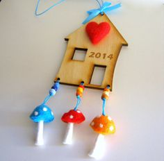 Lucky House Ornament New Year Decor