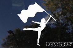 colorguard | Color Guard Flag Dance Car Window Decal